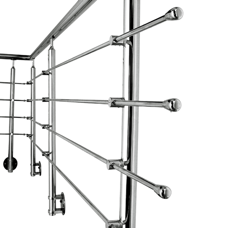 Marin Grade Side Mounted Stainless Steel Rod Railing Design