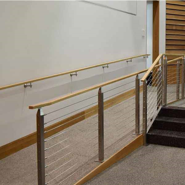 Commercial Balustrade Timber Square Handrail 304 316L 316