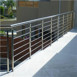 Modern Home Staircase Balcony Stainless Steel Solid Rod Bar Railing