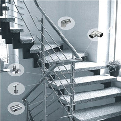 House Staircase Carbon Steel Powder Coated Solid Rod Railing
