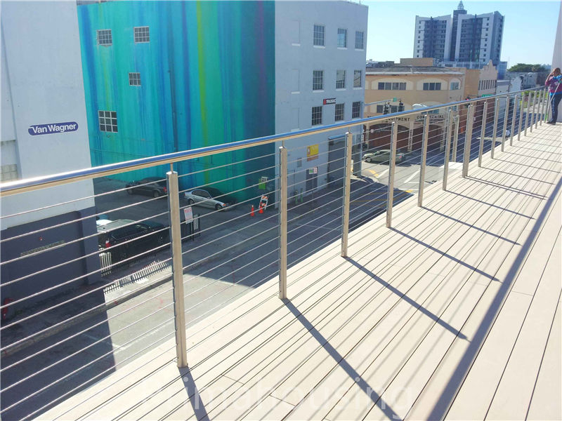 opening terrace stainless steel wire balustrade    interior