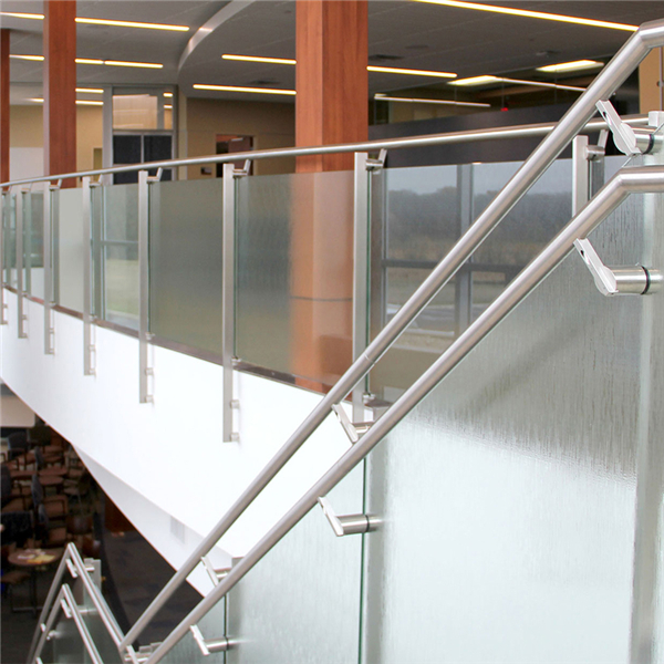 Indoor 304 stainless steel glass railing designs with side ...