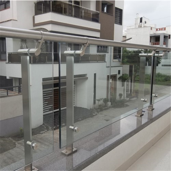 Top mount 304 316 stainless steel balcony glass railing ...