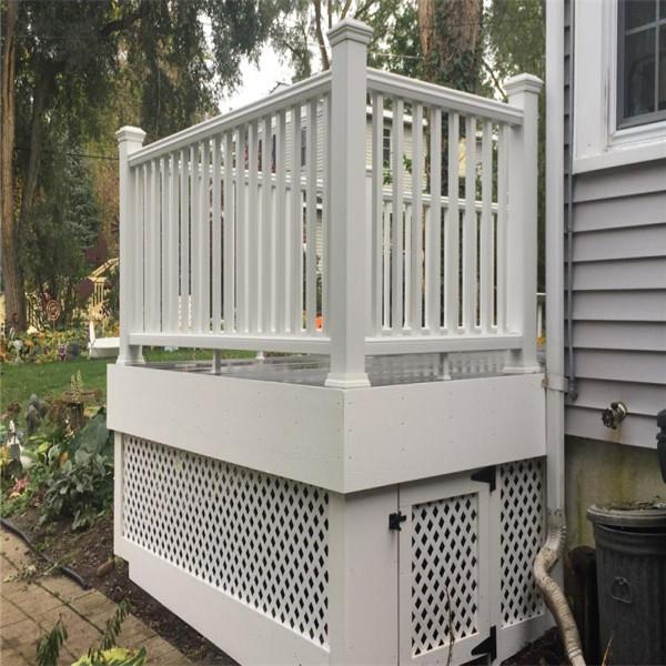 High quality exterior aluminum balcony railing