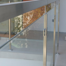 China supplier stainless steel rectangular post glass railing for sale