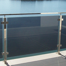 Square pipe balcony stainless steel railing systems