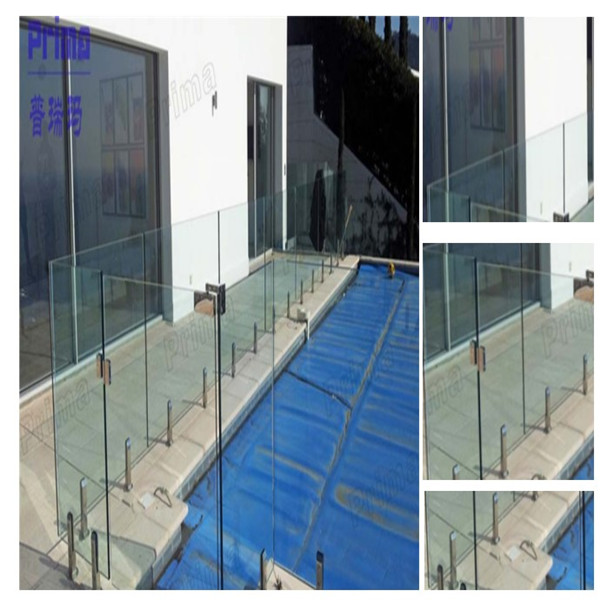 Swimming Pool Glass Spigot Stainless Steel Glass Railing Pool Fence Design