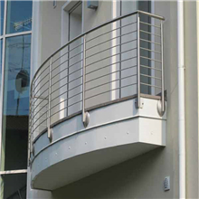Curved Balcony Side Mounted stainless steel solid rod bar railing design PR-R02