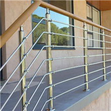 Polished Stainless Steel Rod railing with PVC handrail for terrace PR-R06​