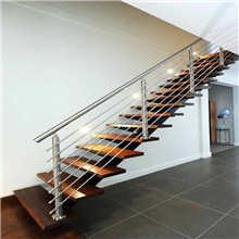 Brushed Rod railing for staircase PR-R07