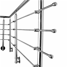 Marin grade side mounted stainless steel rod railing design PR-R08