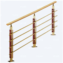 staircases railing wood steel cross bar railing system PR-R09