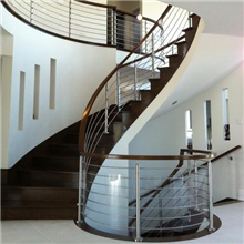 Indoor  316L 304 316 stainless steel curved shape solid rod bar stair balustrade PR-R10