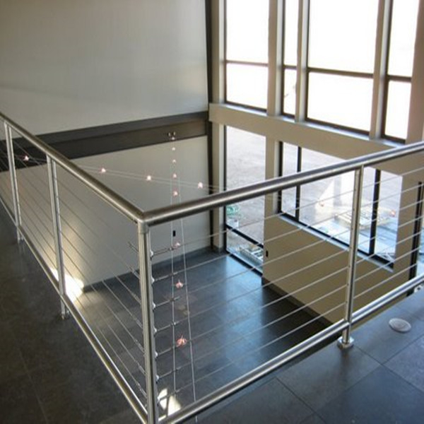 Patio Stainless Steel Wire Balustrade / Steel Cable Railing Stainless Steel Handrail