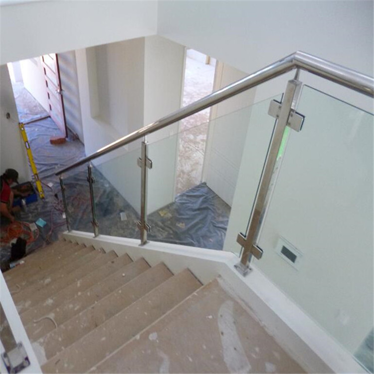 Outdoor Balcony Stainless Steel Railing Post Glass Railing Balustrade Staircase Glass Railing Designs